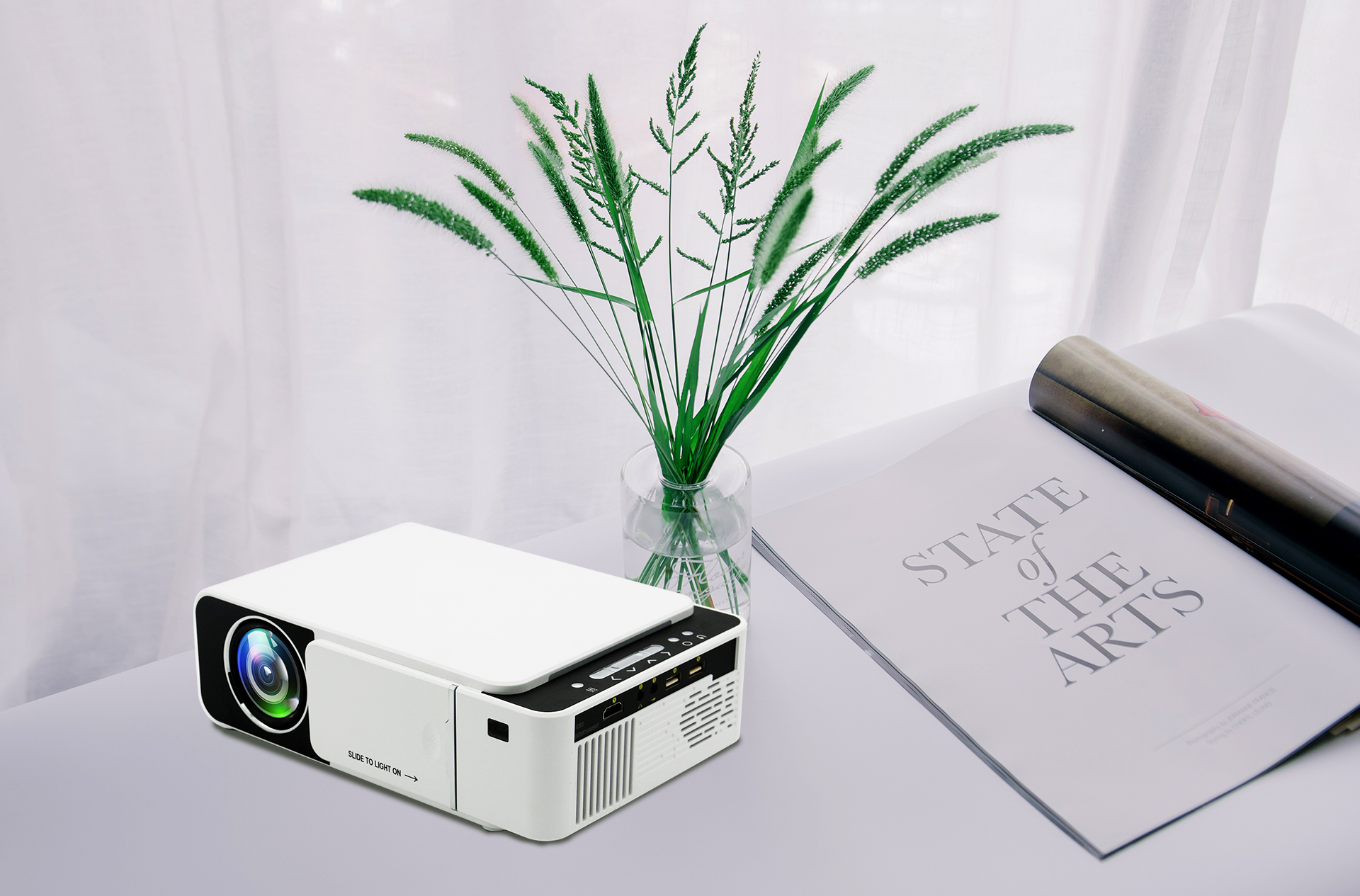 Wifi LED Projector Full HD 3D Portable HD Home Theater Mini Projector