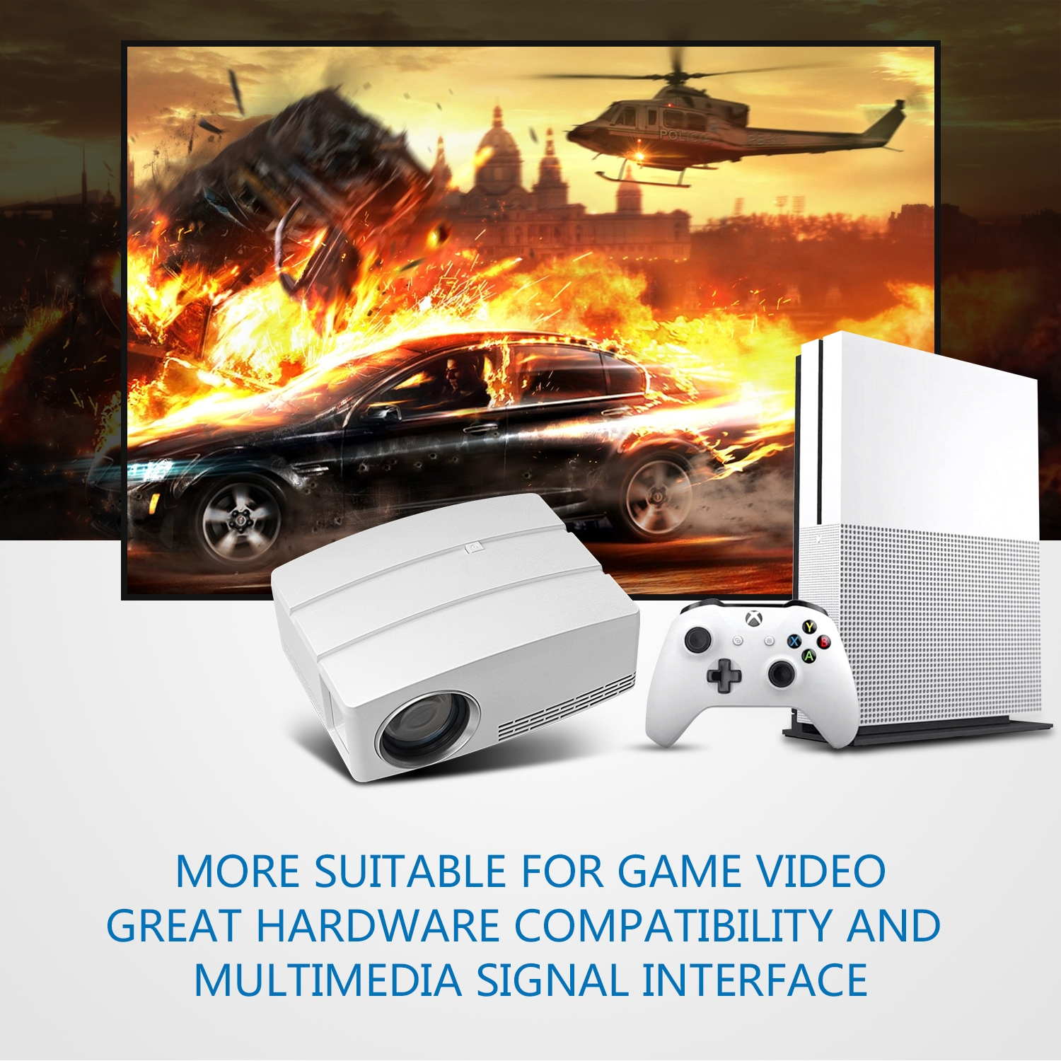 portable led GP80 hot sale mini projector 1080P home theater entertainment projector