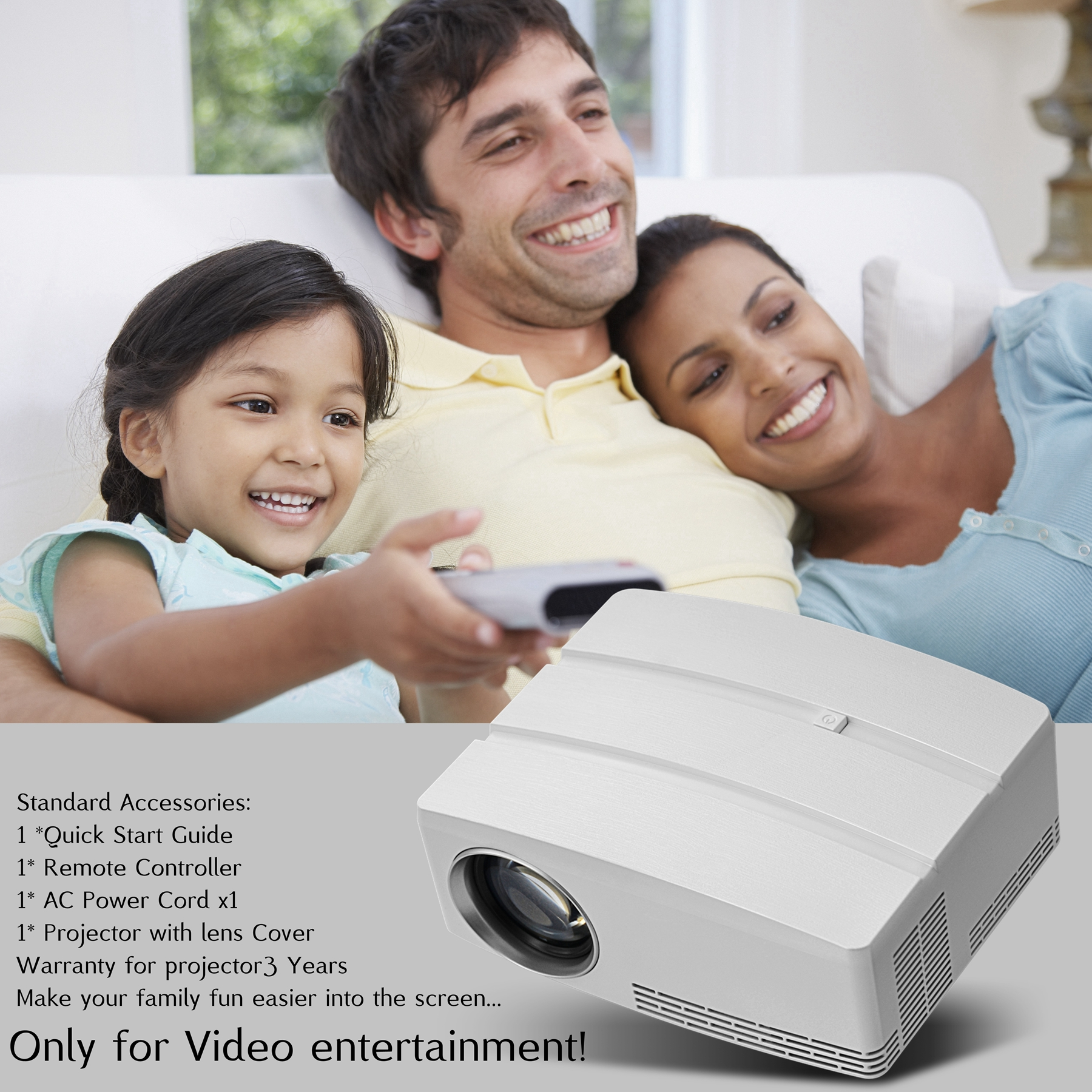 portable ledGP80 hot sale mini projector 1080P home theater entertainment projector