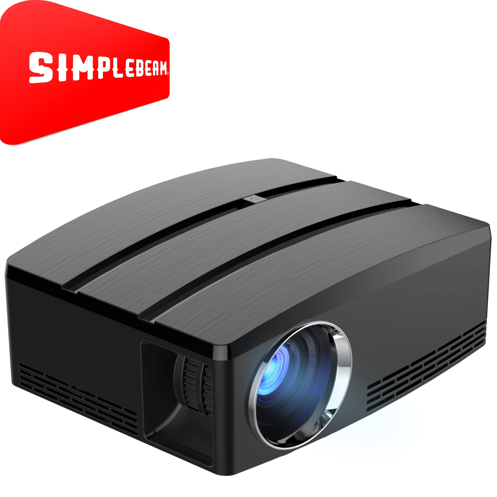 1800 Brightness Native HD LED TWS Video Home Theater Projectors GP80 for family entertainment
