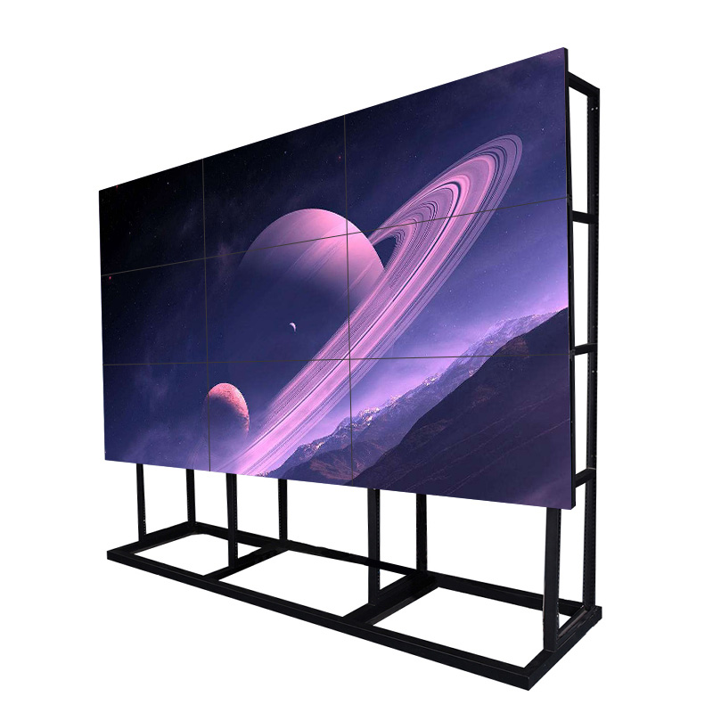49 inch indoor meeting seamless 3x3 lcd video wall player