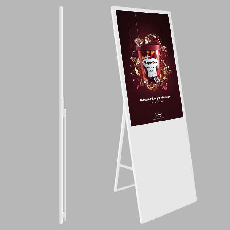 "55"" Floor-stand Portable LCD Digital signage, advertisement player,digital media display"