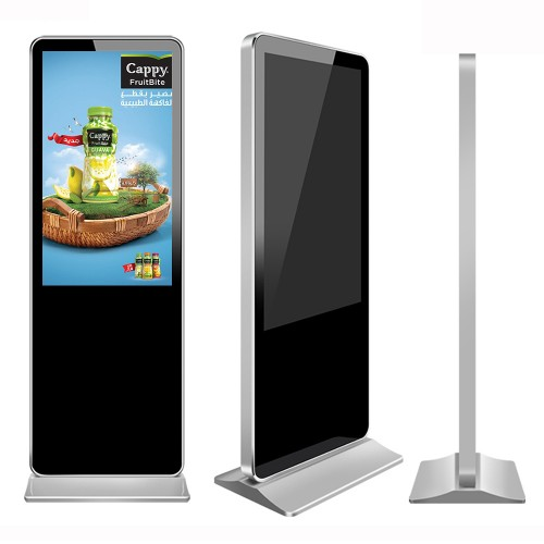 55 Inch lcd digital signage advertising display Touch Screen Free Standing Kiosk Subway Digital Signage Screens