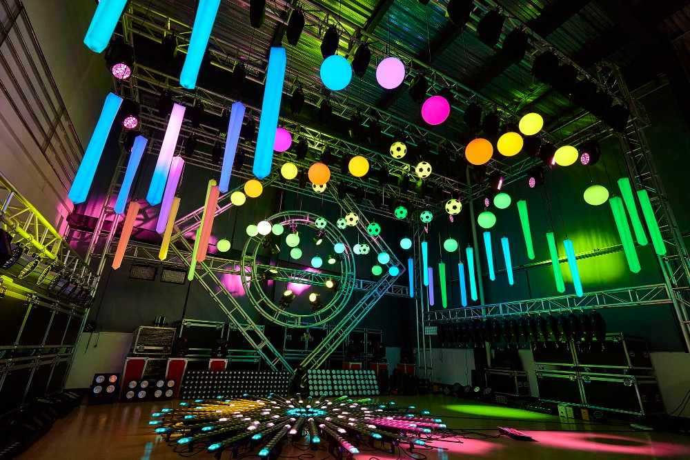led kinetic lift ball rgb