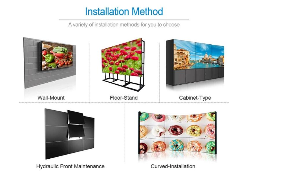 "46"" 49"" 55 inch LED LCD led video wall display 3x3 shopping mall advertising"