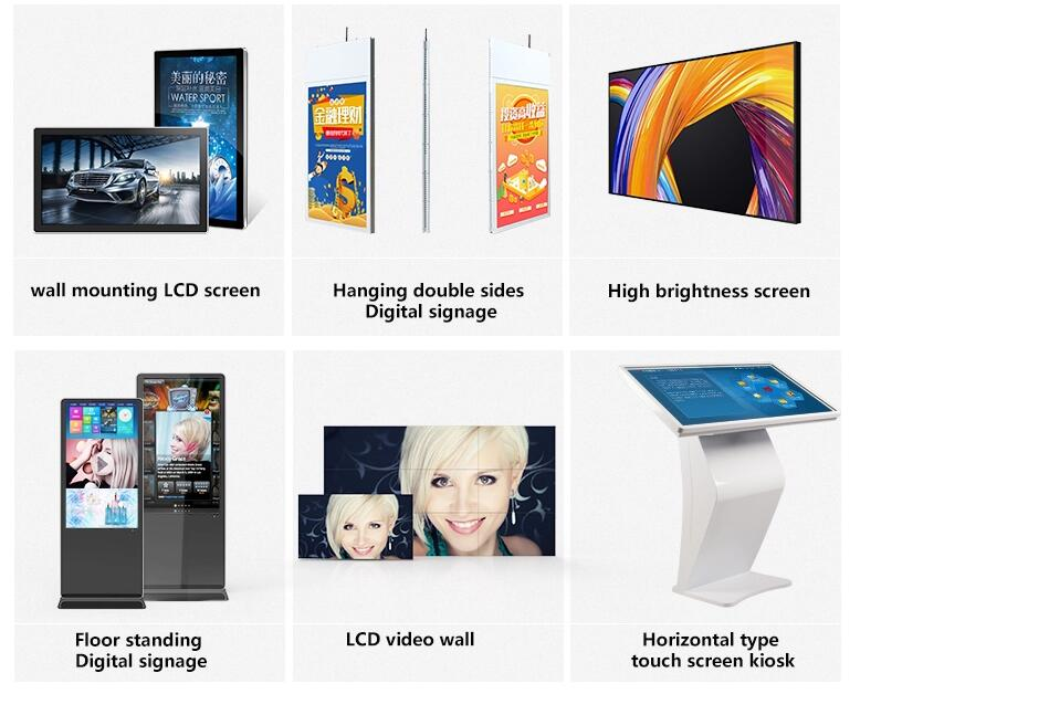 portable LCD Digital Signage 55 inch portable totem display advertising sign holder lcd screen led display for advertising