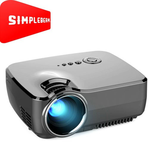 GP70 1200LM 800*480 Home Theater Projector with Remote Control, 4.0 inch Single LCD Panel Display