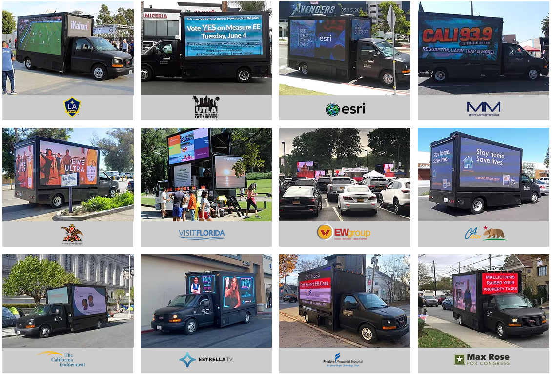 Digital Mobile Billboard Advertising Trucks