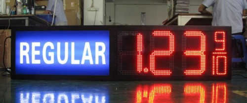 Gas station regular diesel led price sign 16inch