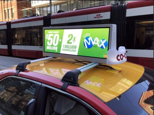 led taxi top advertising sign