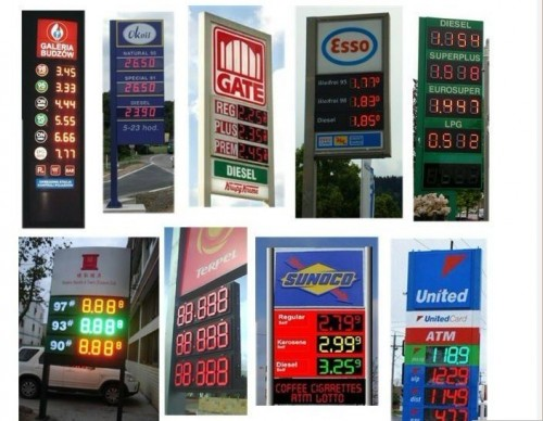 led gas price sign remote control