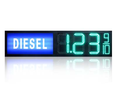 Gas station regular diesel led sign 16inch