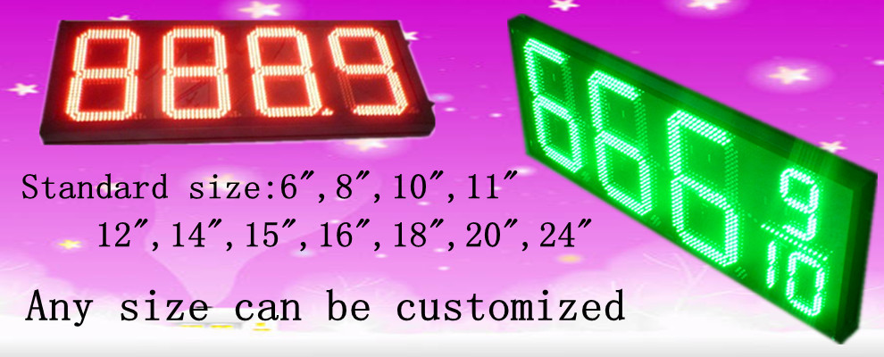 "12"" LED Gas Price Signs"