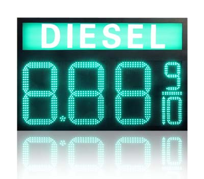 Digits LED Gas Price Sign Display