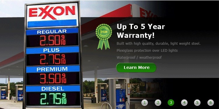 gas price signs suppliers