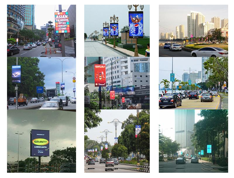 video street light pole led display