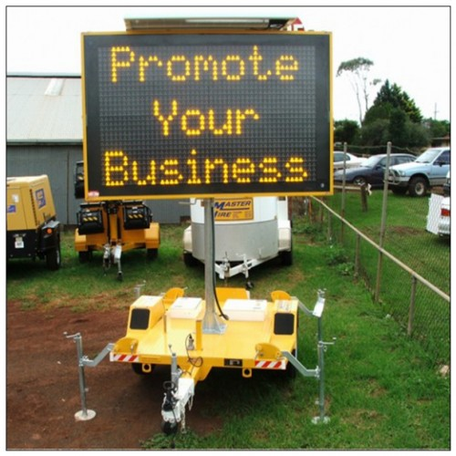 Solar LED Variable Message Sign Trailer