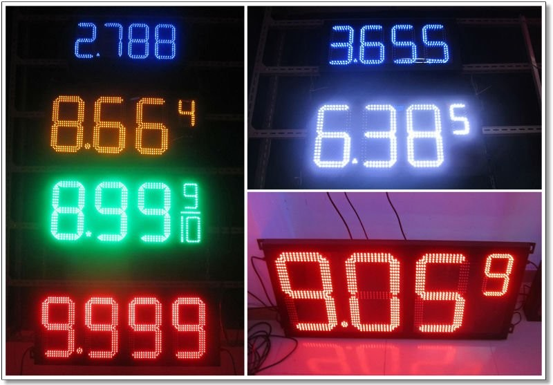 led gas price sign parts
