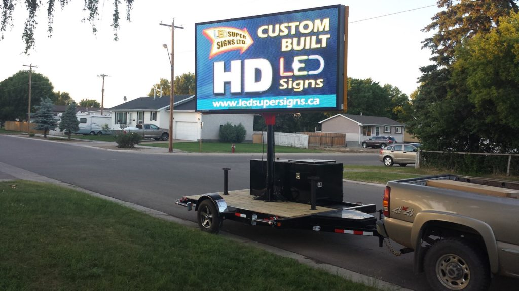 Full Color Portable LED Sign VMS Trailer for Hire