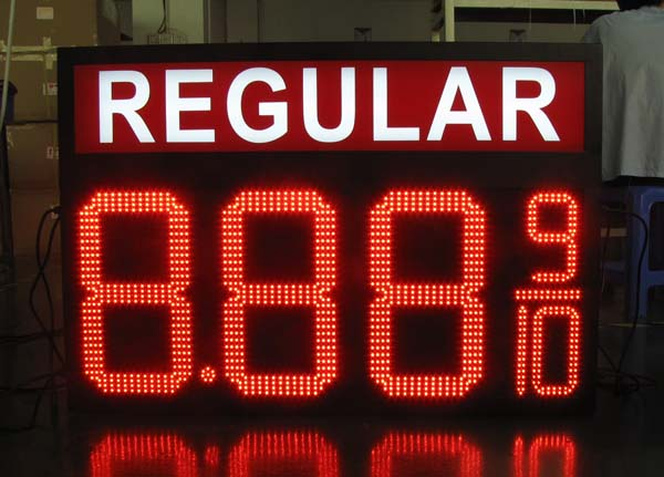 gas station led price sign