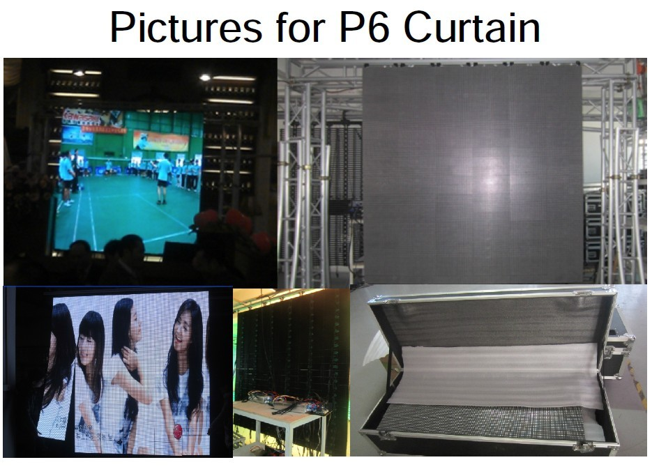 Flexible LED Screen Display LED Video Curtain