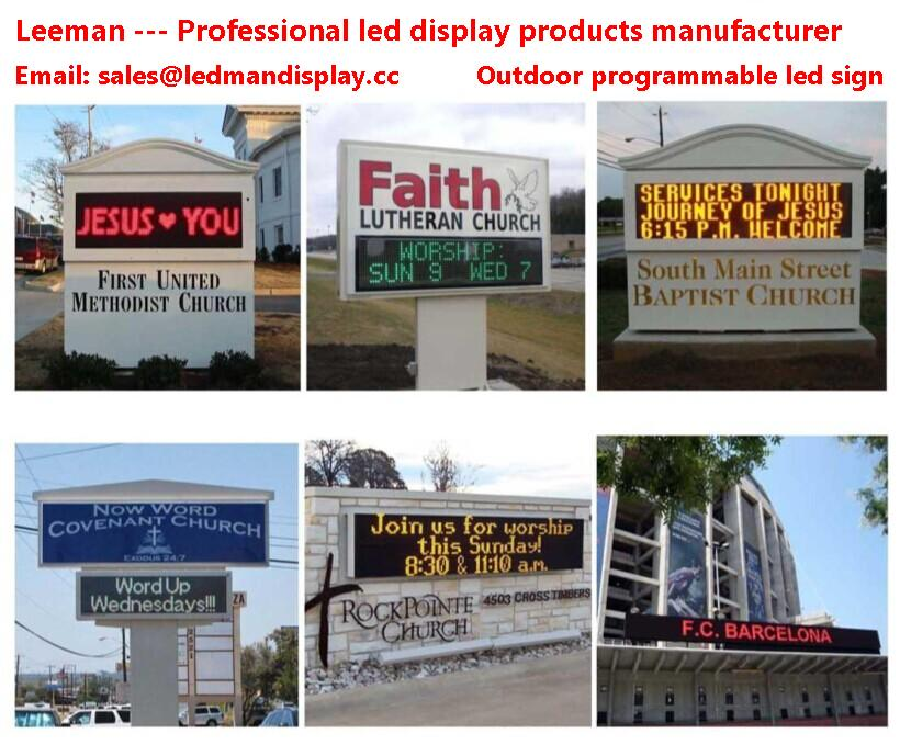 outdoor programmable led signs double sided