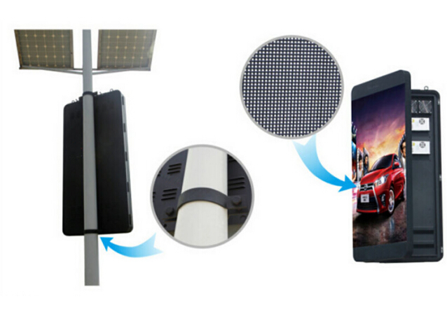 Pole Mounted Street Light Pole LED Display