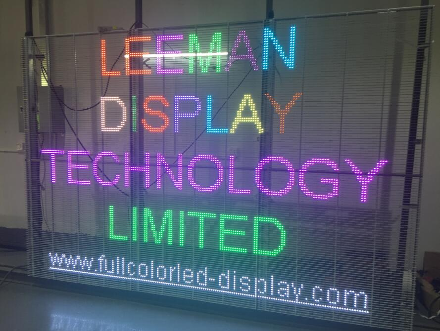 transparent glass led video screen