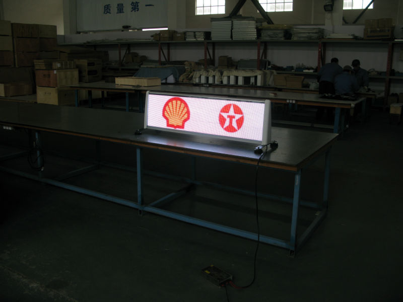 taxi roof led display sign