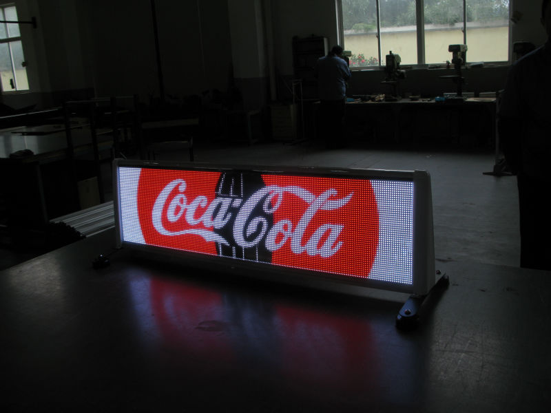taxi roof led display screen