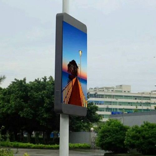 3G 4G Wireless Creative LED Display P6 Pole Outdoor Street light box