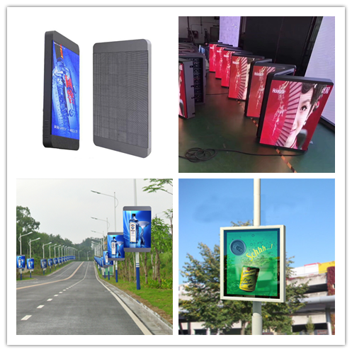 Street light pole led advertising display