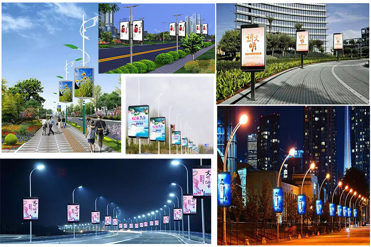 Smart Pole LED display P5mm 640×1280mm LED Screen