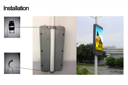 Lamp pole LED display