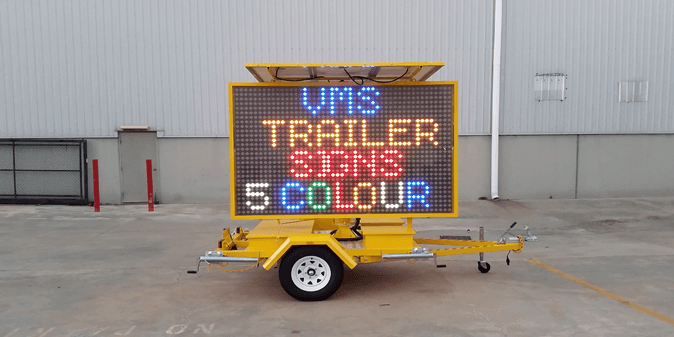 VMS Trailer Signs