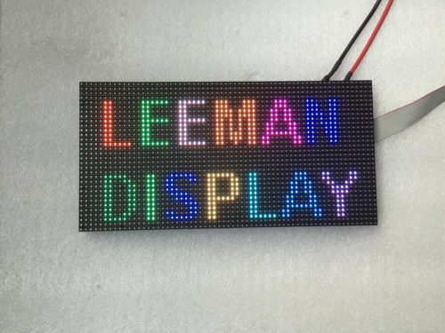64x32 RGB Led Matrix Clock With Arduino