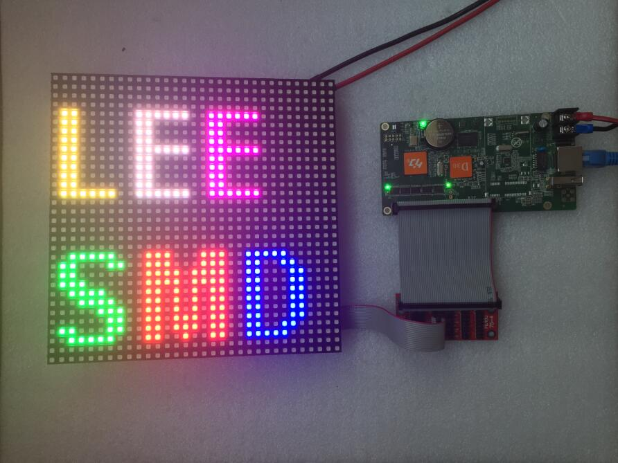 P6 SMD3528 RGB 192mmx192mm indoor LED display