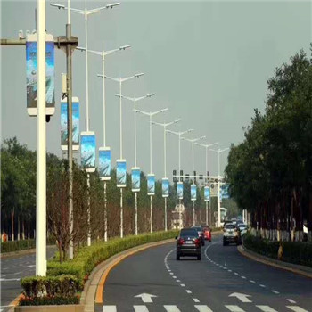 double sided Advertising Pole Lamp Post LED Screen display