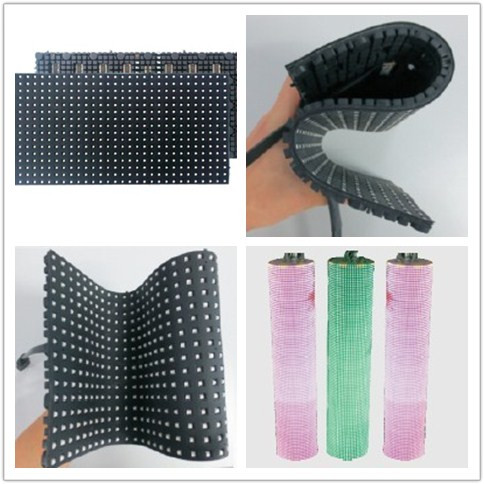 P3 Soft Flexible Led Screen Display 240mmx120mm Flexible LED Module Indoor