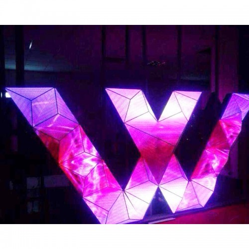 Triangle Dj Club Led Video Wall , Creative Led Display Screen For Night Club