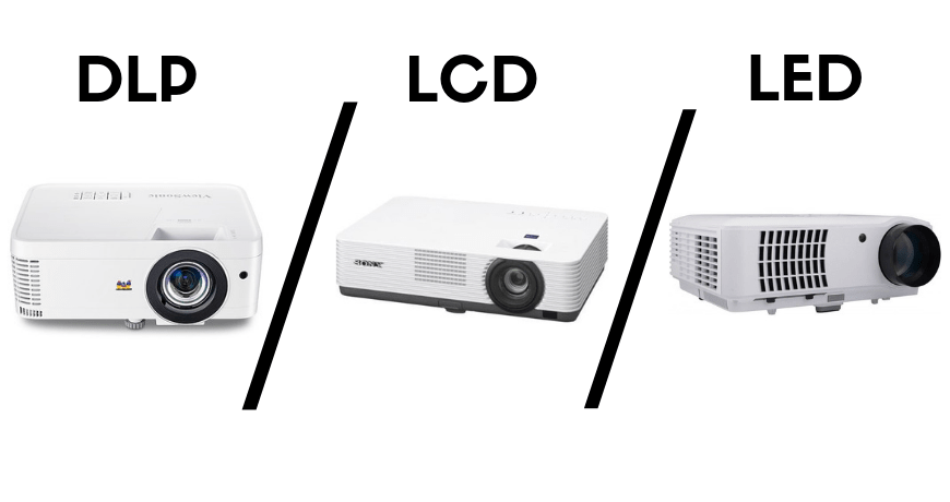 The Differences Between LED Projectors vs LCD Projectors vs DLP Projectors