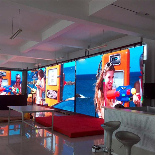 P2.976 indoor rental aluminum cabinet led screen