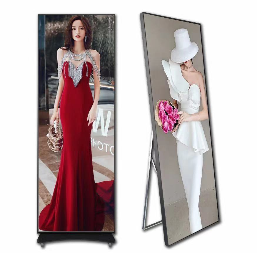 P3 Indoor Standing Mirror Poster Advertising LED Display