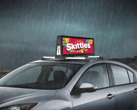 Outdoor Taxi Top LED Display Digital