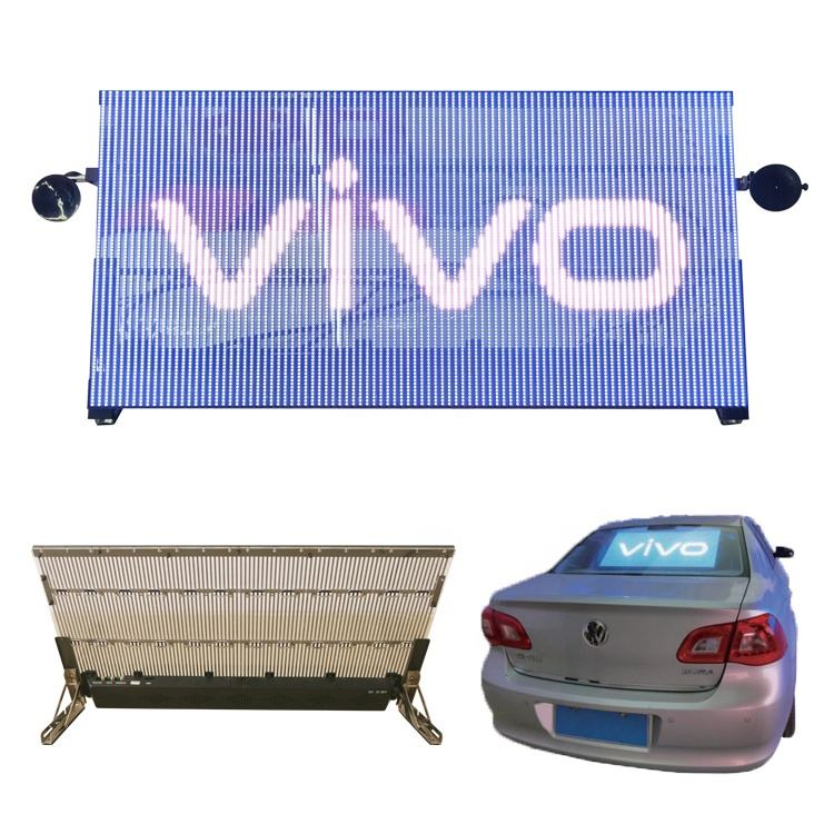 Taxi window glass adhesive film LED screen