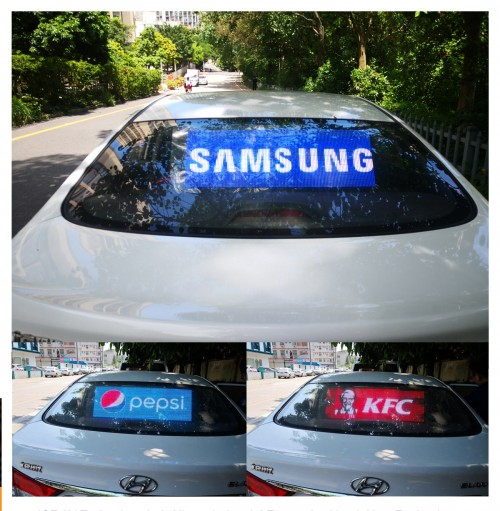 Glass adhesive film LED for taxi rear