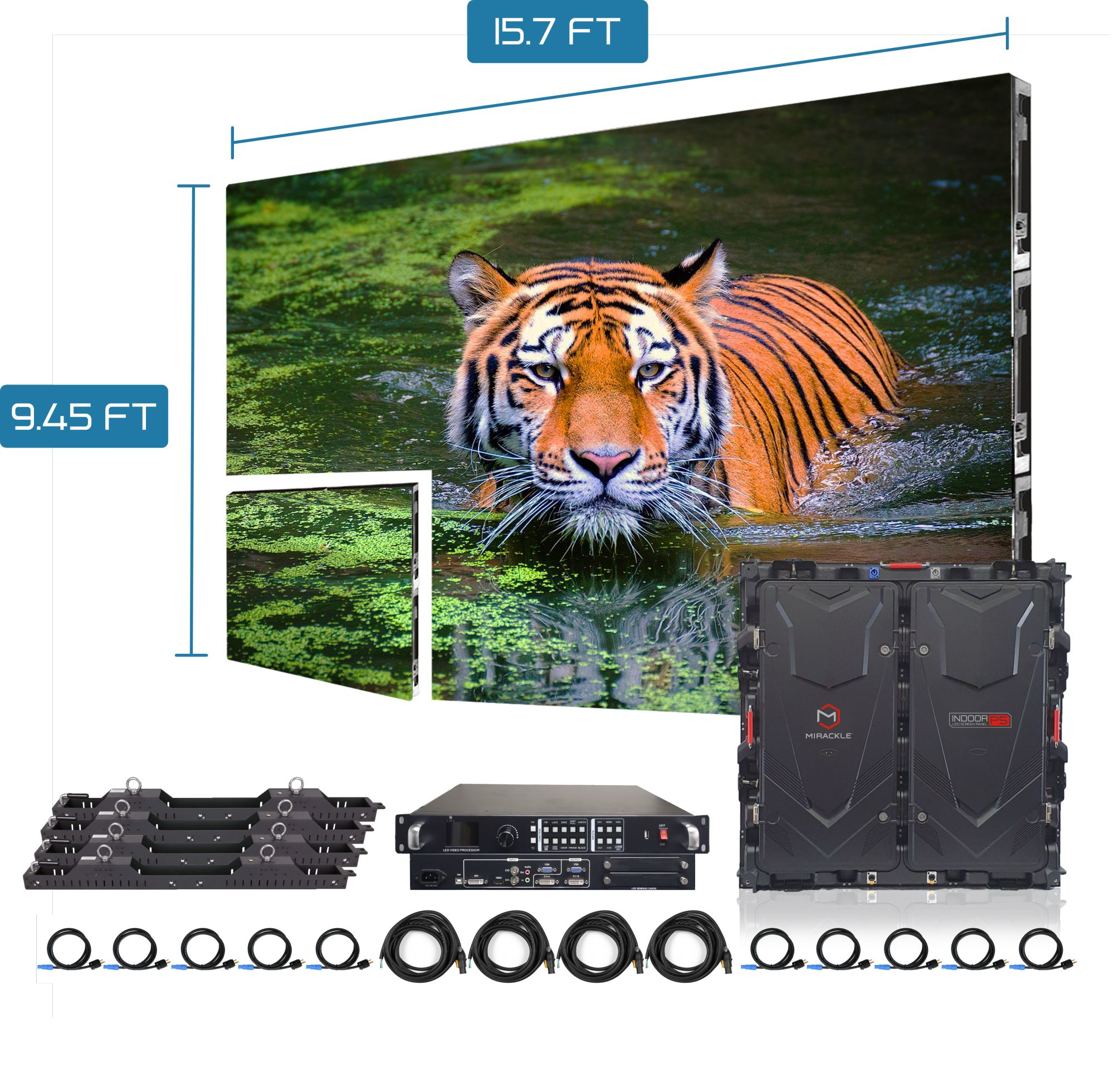 outdoor p2.976 led display screen