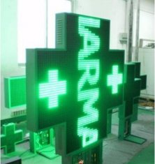 P10 LED cross Pharmacy sign farmacia screen sign Outdoor led cross double sided 960x960