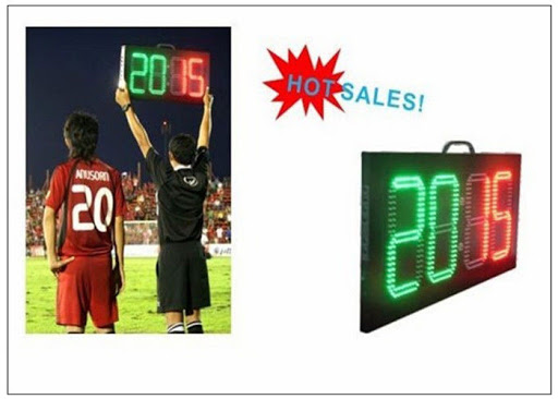 portable soccer substitution board/led football substitute board
