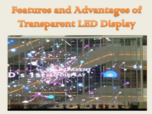 Transparent LED in window glass film